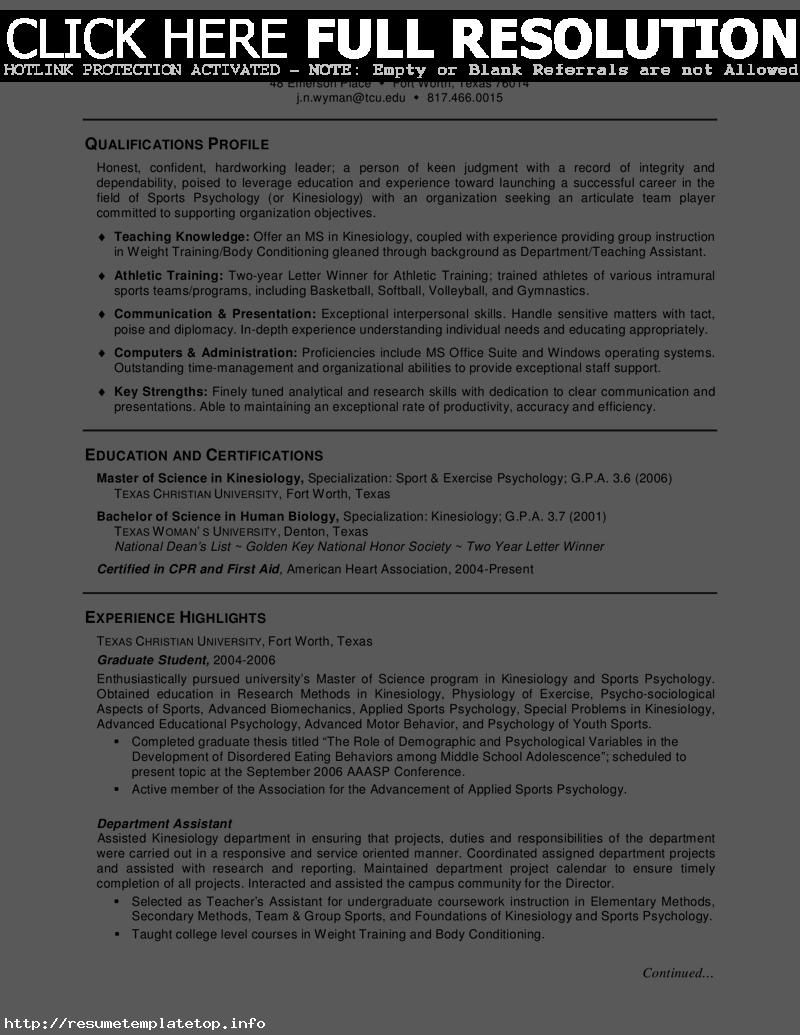 Graduate School Admissions Resume Sample - http://www.resumecareer ...
