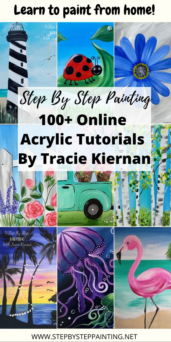Step by step painting tutorials