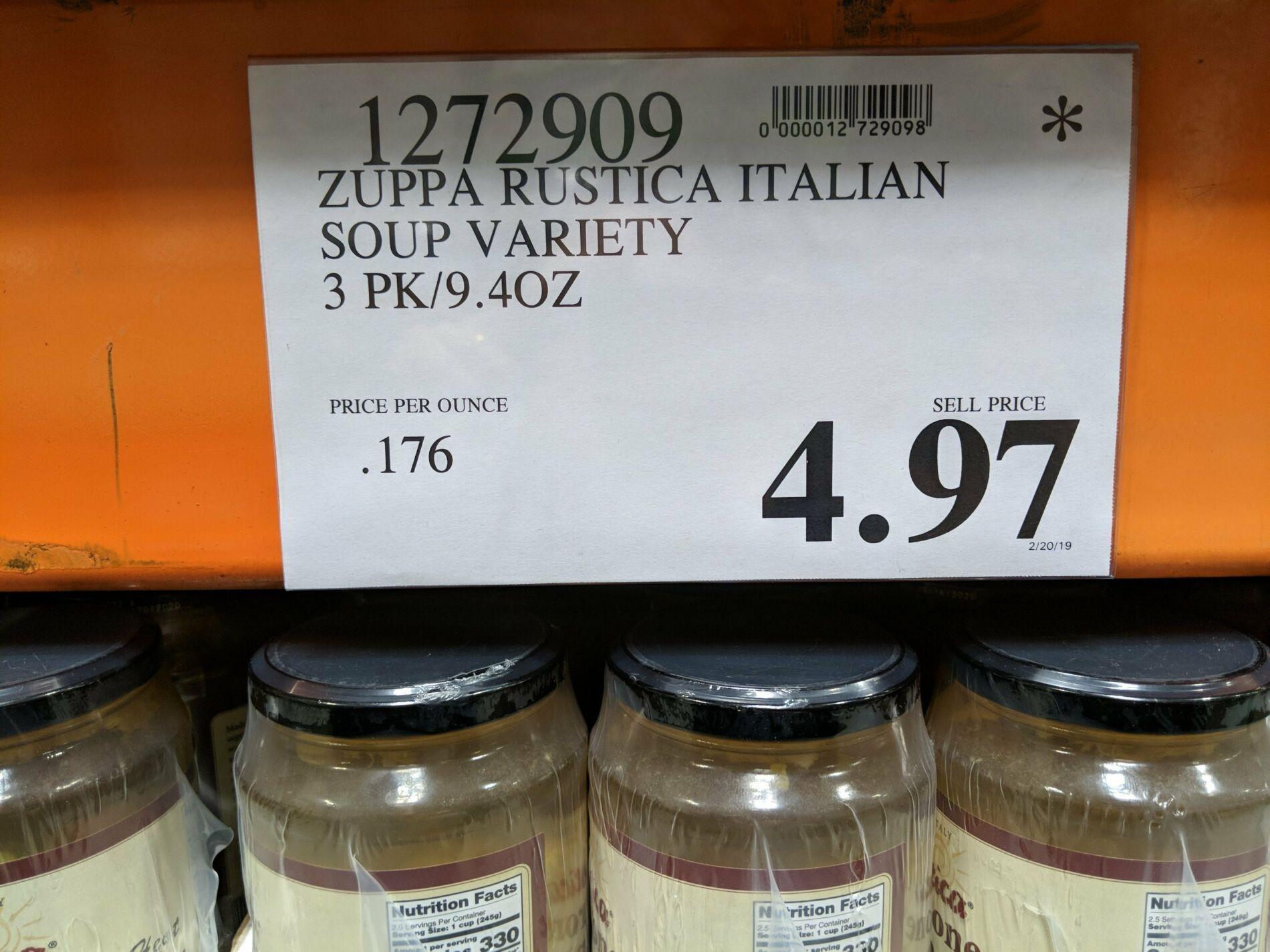 Zuppa Rustica Italian Soup Variety 3 Pack - $4 97 #costco