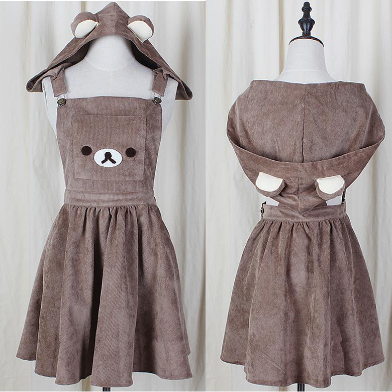 4539a89f5ec Super Cute Rilakkuma SuspenderDress C00230 - Thumbnail 4 Kawaii Dress