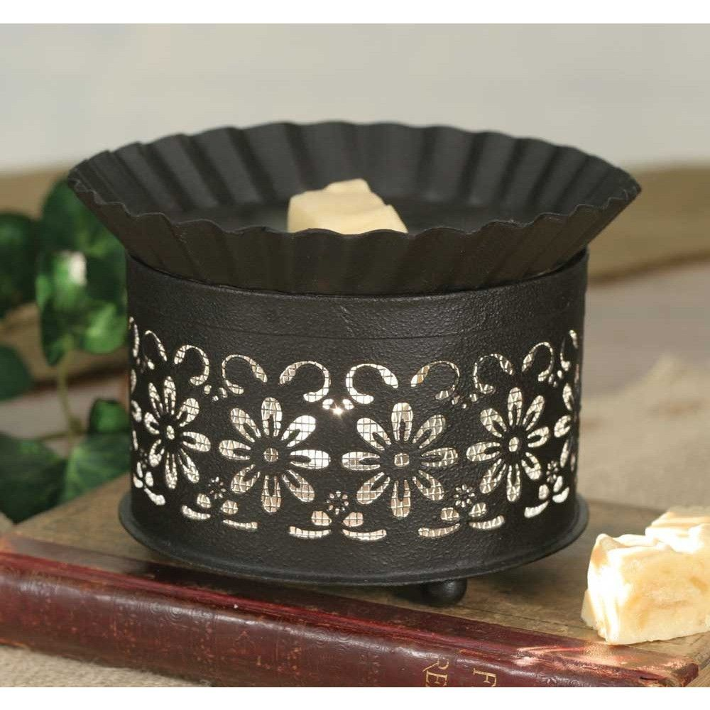 Country Metal Wax Warmer - Daisy with Screen Insert