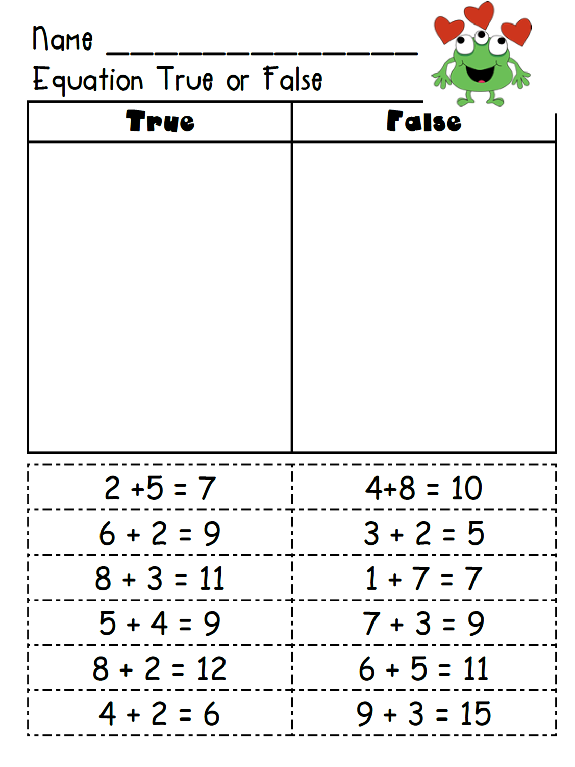 1000 images about Math Algebraic Thinking and Operations on – Common Core Math Worksheets for First Grade