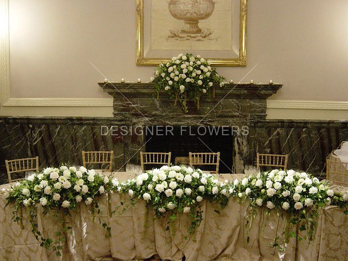 Wedding Top Table Displays From Designer Flowers