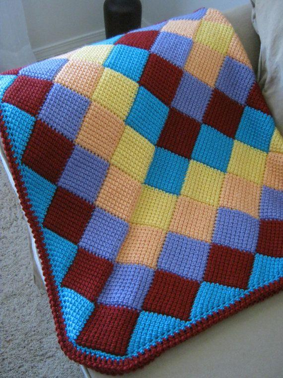 Colorido cálido y suave bebé manta afgana por ForBabyCreations ...