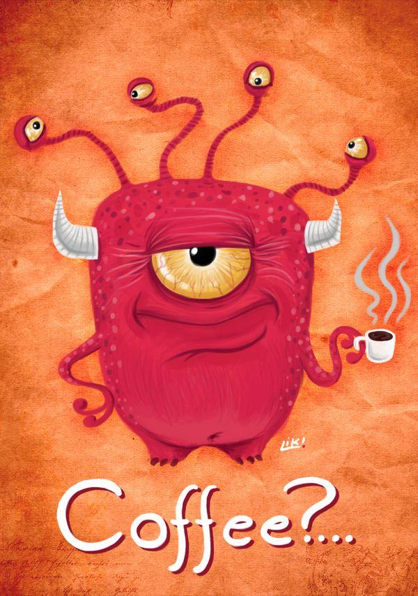 Coffee? by Alex Liki, via Behance