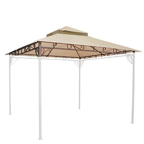 10 10 Ft Waterproof 2 Tier Gazebo Canopy Top Replacement Outdoor Pergola Gazebo Canopy Outdoor