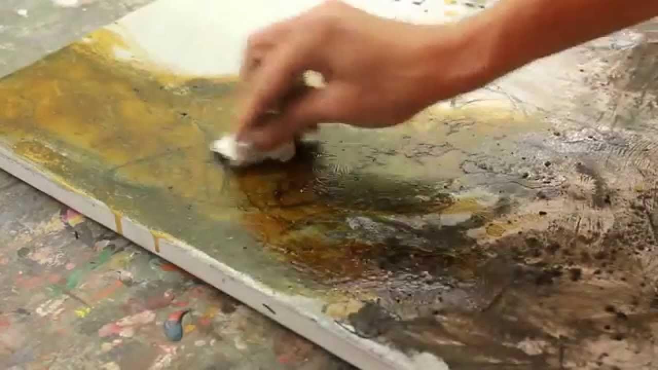 Abstraktes Malen Spannungsrissen Krakelee Effekt Interessante