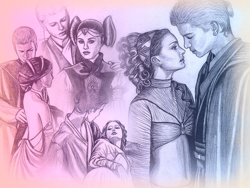 Anakin And Padme In Star Wars At Villa Del Balbianello With