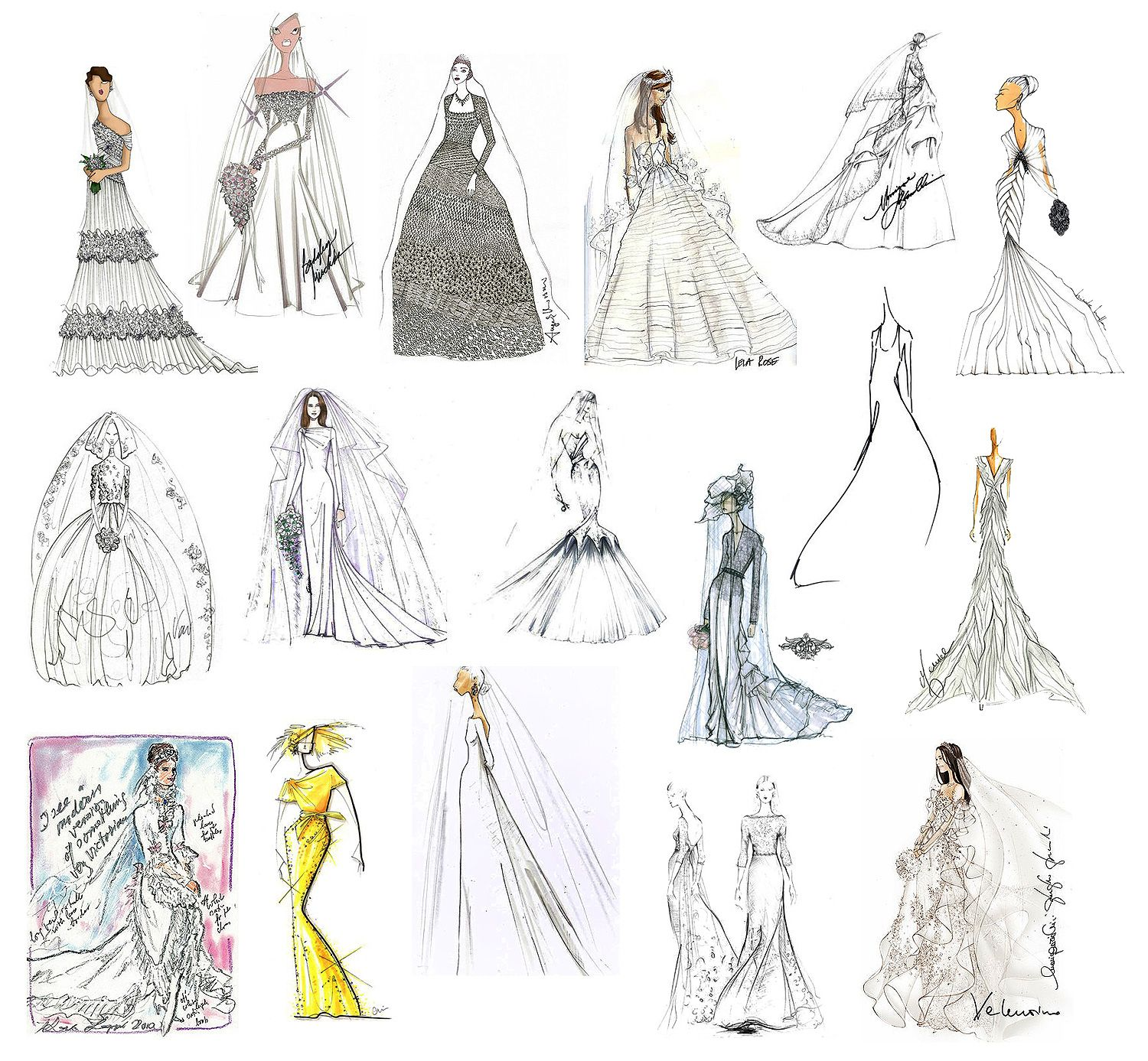 Fashion Couture Sketches 29 Famous Fashion Designers Sketch Wedding Gowns For Kate Middleton Fashion Design Sketches Top Design Fashion Famous Fashion