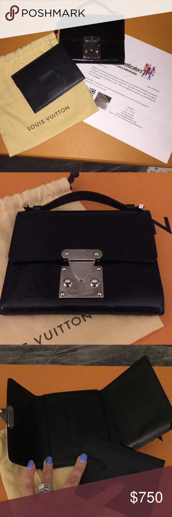 Louis Vuitton Portefeuille Anouchka PM Rare hard to find wallet with  removable leather envelope. PM 88601fc2b4ffe