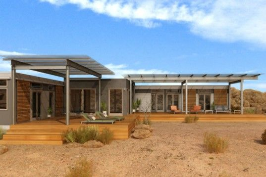 8 Gorgeous Eco Friendly Homes Designed For The Desert Prefab Homes Affordable Prefab Homes Desert Homes