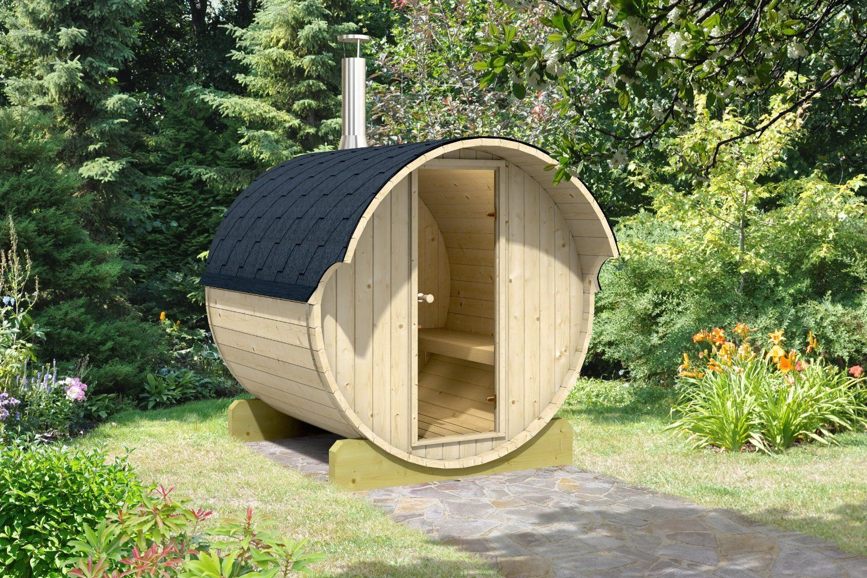 Allwood barrel sauna 220whc wood fired