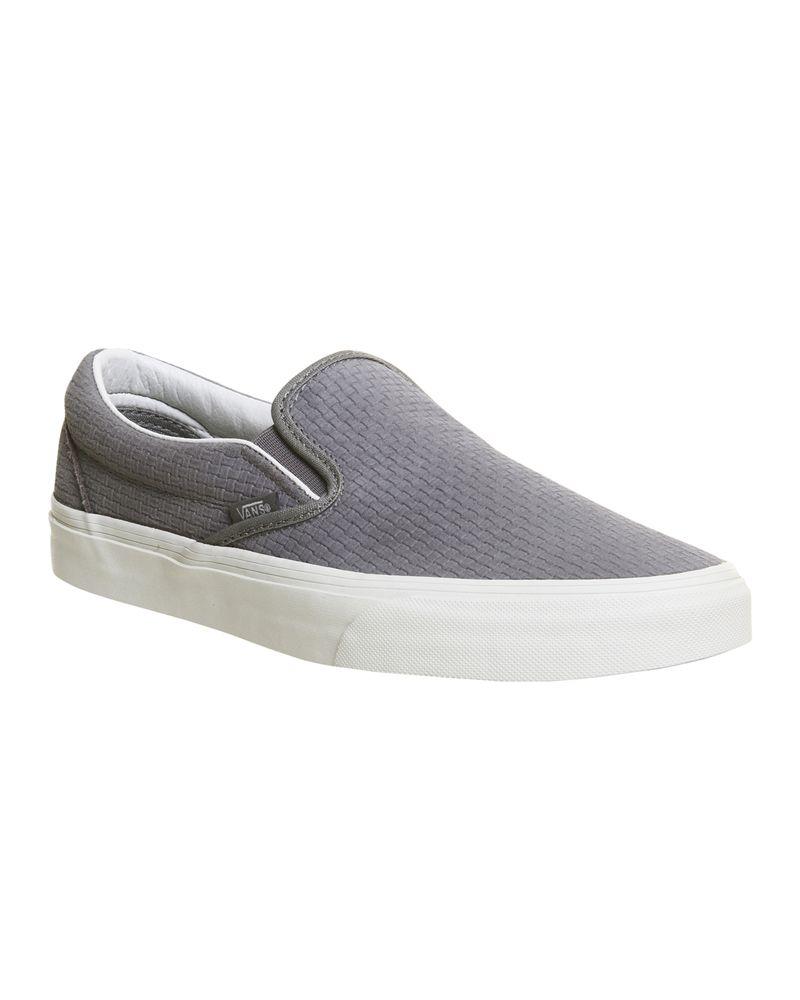 White boat shoes, Vans classic slip