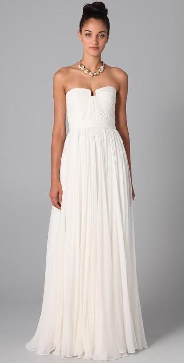 Wedding Gown NYC: Simple wedding dress   My October wedding ideas^_ ...