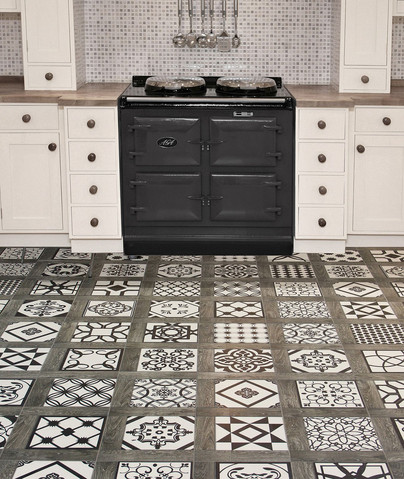 Our da vinci vintage porcelain floor tile collection offers a mix our da vinci vintage porcelain floor tile collection offers a mix of 15 different black and dailygadgetfo Image collections