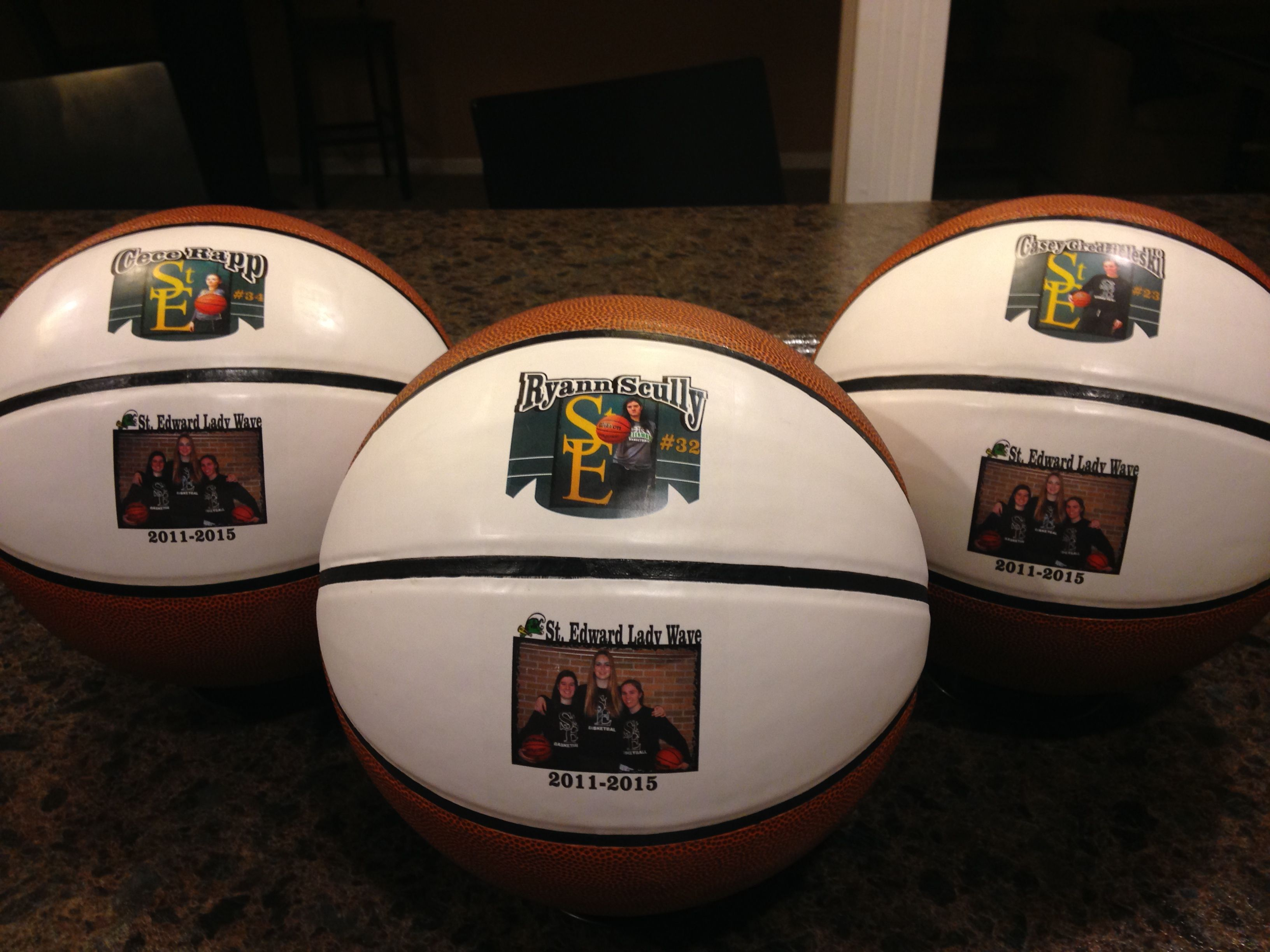 More senior gifts done by get on the ball photos sports