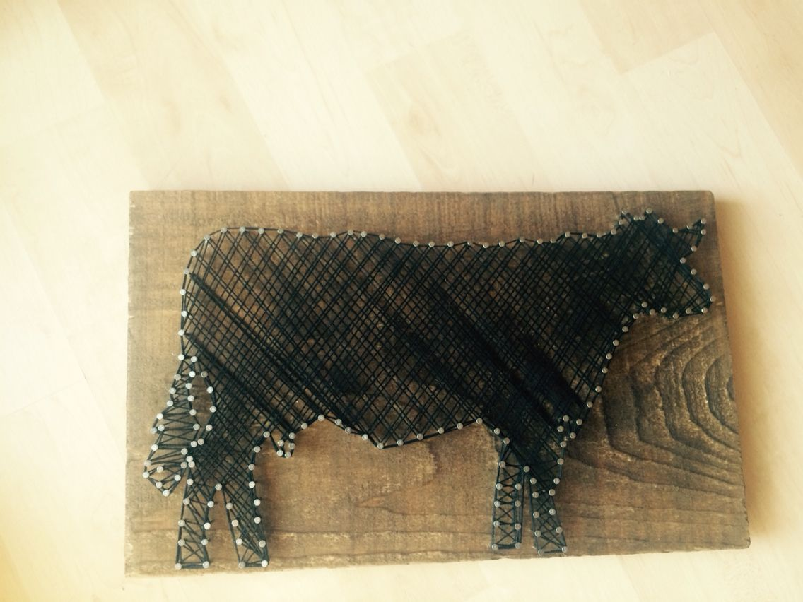 String art show cow for fair