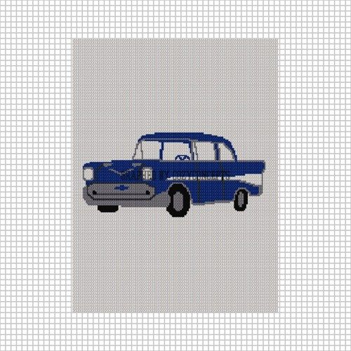 Cozyconcepts 57 Chevy Chevrolet Crochet Afghan Pattern Graph Afghan Pattern Afghan Crochet Patterns Character Blankets