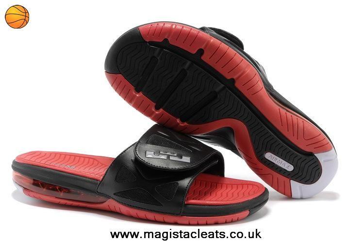 outlet store 3ad63 b4bce Nike Air LeBron 2 Slide Elite Black White University Red 554713 016 Outlet