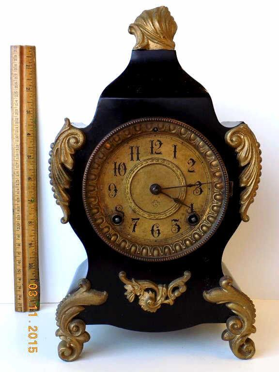 19th Century Ansonia French Style Mantel Clock Mar 28 2015