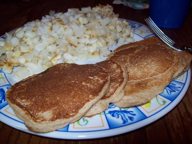 """Ooking spray and cook just like""""silver dollar"""" pancakes, a few small ones at a time.  3  Top with your favorit"""