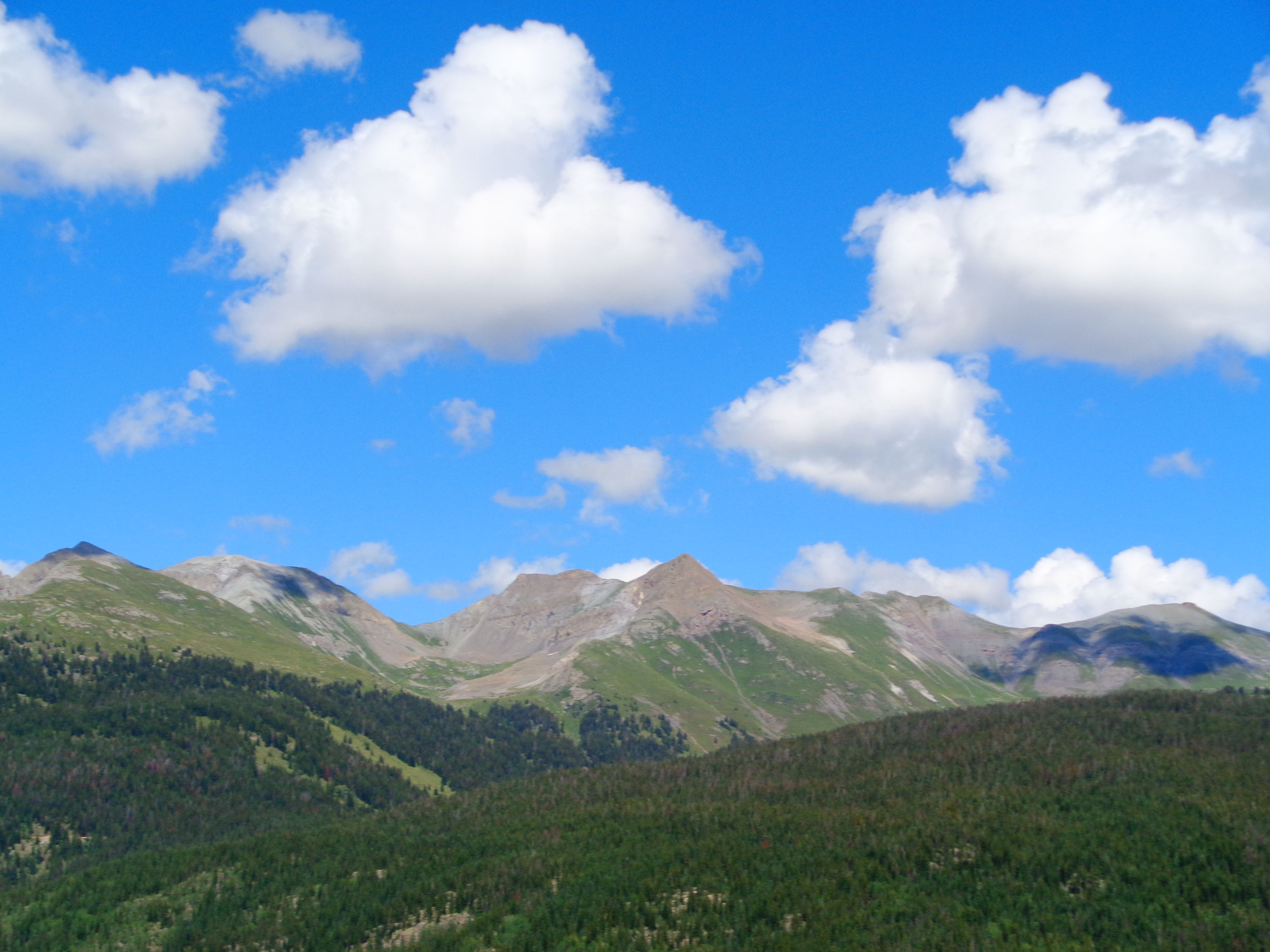 Driving North on 550 from Durango to Silverton.
