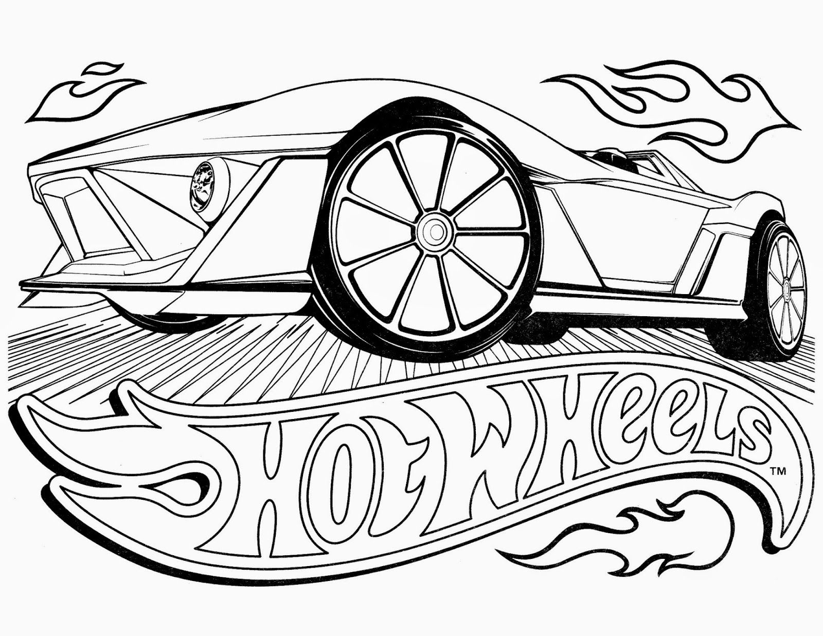 hot wheels pose cars coloring pages