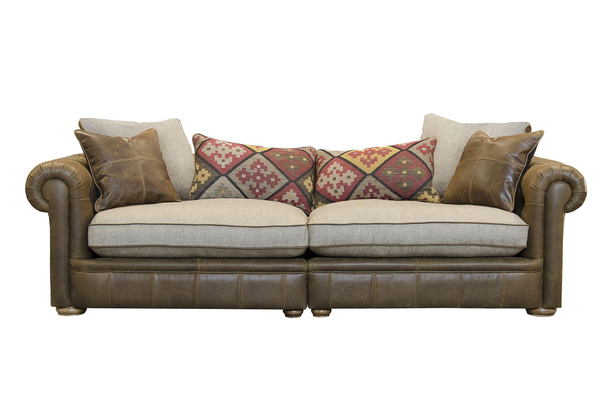Groovy Alexander James The Retreat Maxi Sofa Leather Jin Brown Machost Co Dining Chair Design Ideas Machostcouk