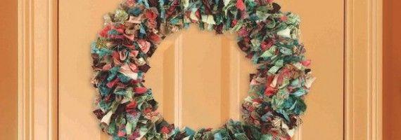 Photo of No-Sew Fabric Wreath