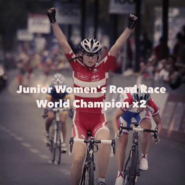Huge Congratulation a Amalie Diderikson on winning her 2nd Junior World Road race gold! She beat Sofia Bertizzolo who took silver and Agnieska Stainaik took bronze! congratulations all!! .