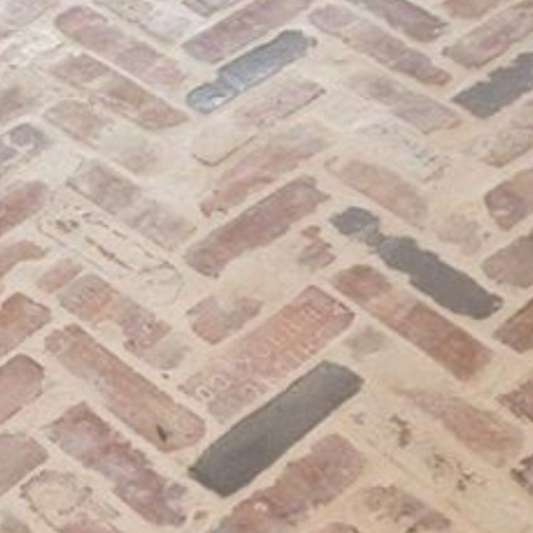 Current Obsession Herringbone Brick Floor Thinking About Doing This For Our Front Mudroom And Half Bath Herring Brick Flooring Herringbone Floor Flooring