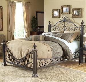 Picture Of California King Baroque Metal Bed From Nfm Love Love