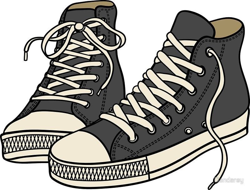 Grey Converse Sticker By Dandarey In 2021 Shoes Clipart Cartoon Shoes Shoes Drawing