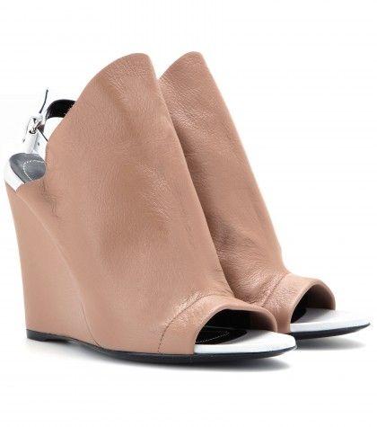 Balenciaga    Glove leather wedges $ 725.00