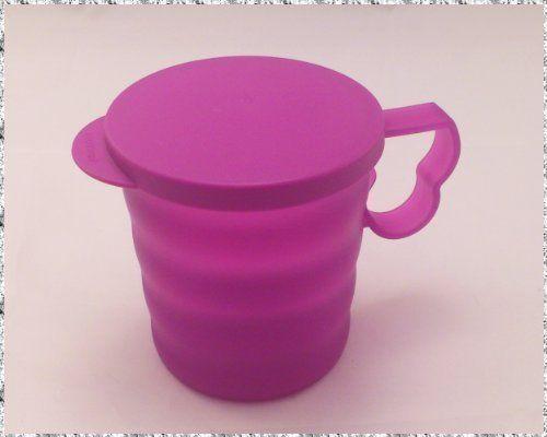 Tupperware Junge Welle Tasse mit Deckel lila 350ml- tupperware - dunkelblaue kche