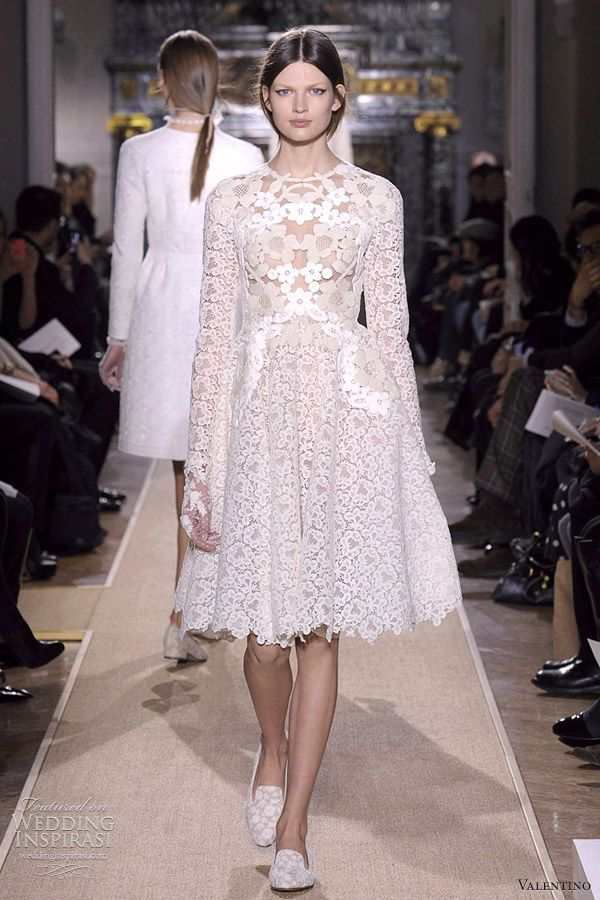 Valentino Short Wedding Dress Spring Summer 2017