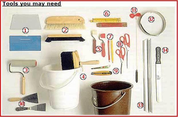 tools needed to hang wallpaper