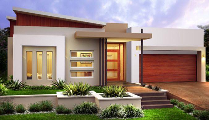 10 dise os de fachadas de casas modernas de un piso for Fachadas de casas de un piso
