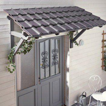 Auvent En Kit L 205 X P 70 X H 110 Cm Leroy Merlin Porch Roof Design House With Porch Porch Design