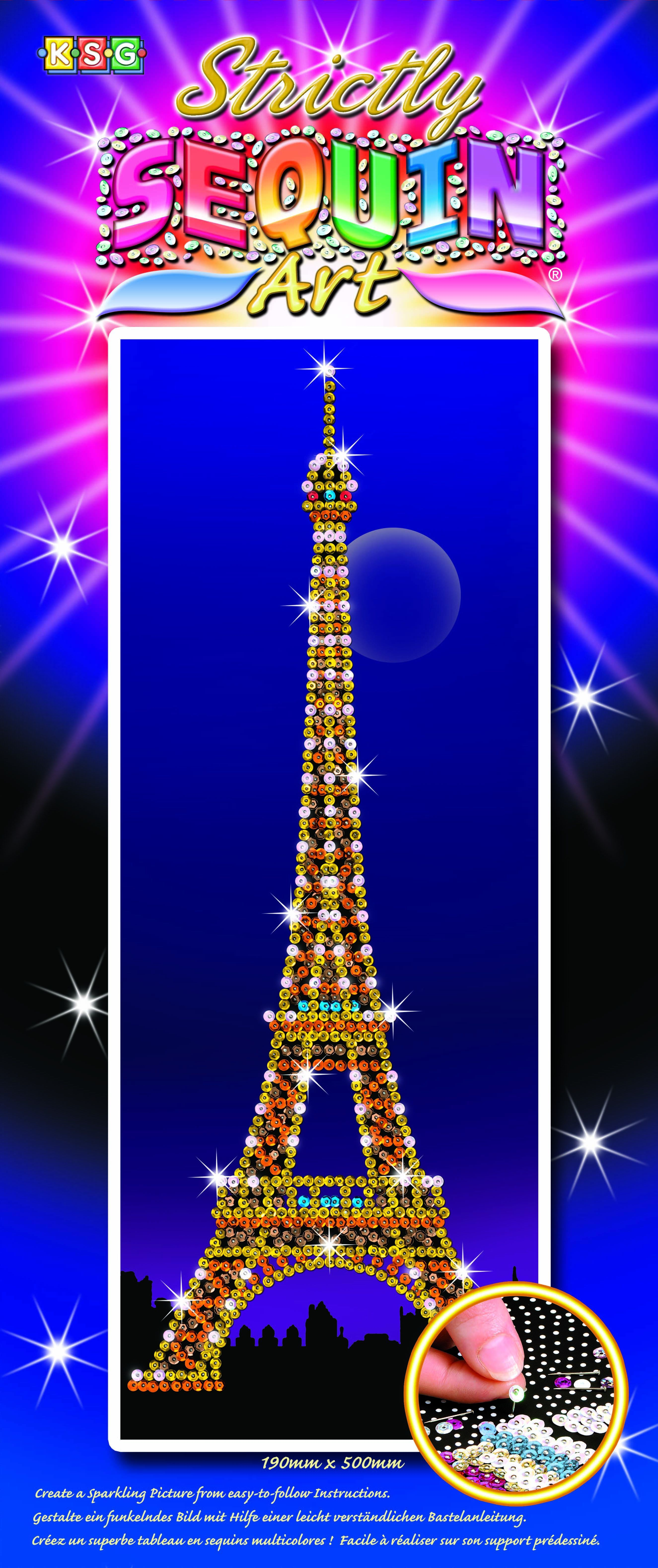 Strictly Sequin Art Eiffel Tower Sparkling Craft Picture