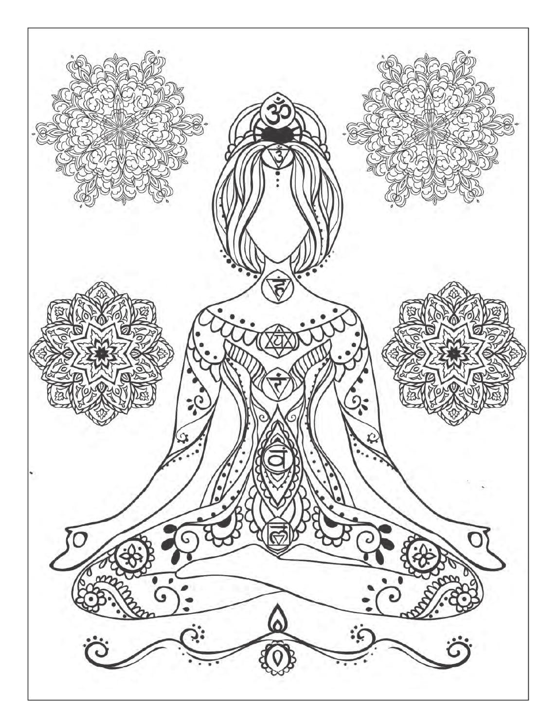 Yoga And Meditation Coloring Book For Adults With Yoga Poses And Mandalas Designs Coloring Books Coloring Books Mandala Coloring