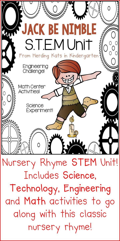 Jack Be Nimble STEM Nursery Rhyme Activities   KinderLand ...
