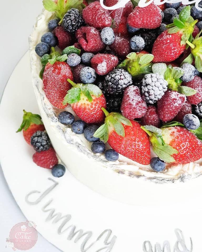 Berrylicious 🍓🍒🍇 Cake designs, Celebration cakes, Poke cakes