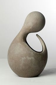 abstract pottery   Praying - Unfired abstract clay figure