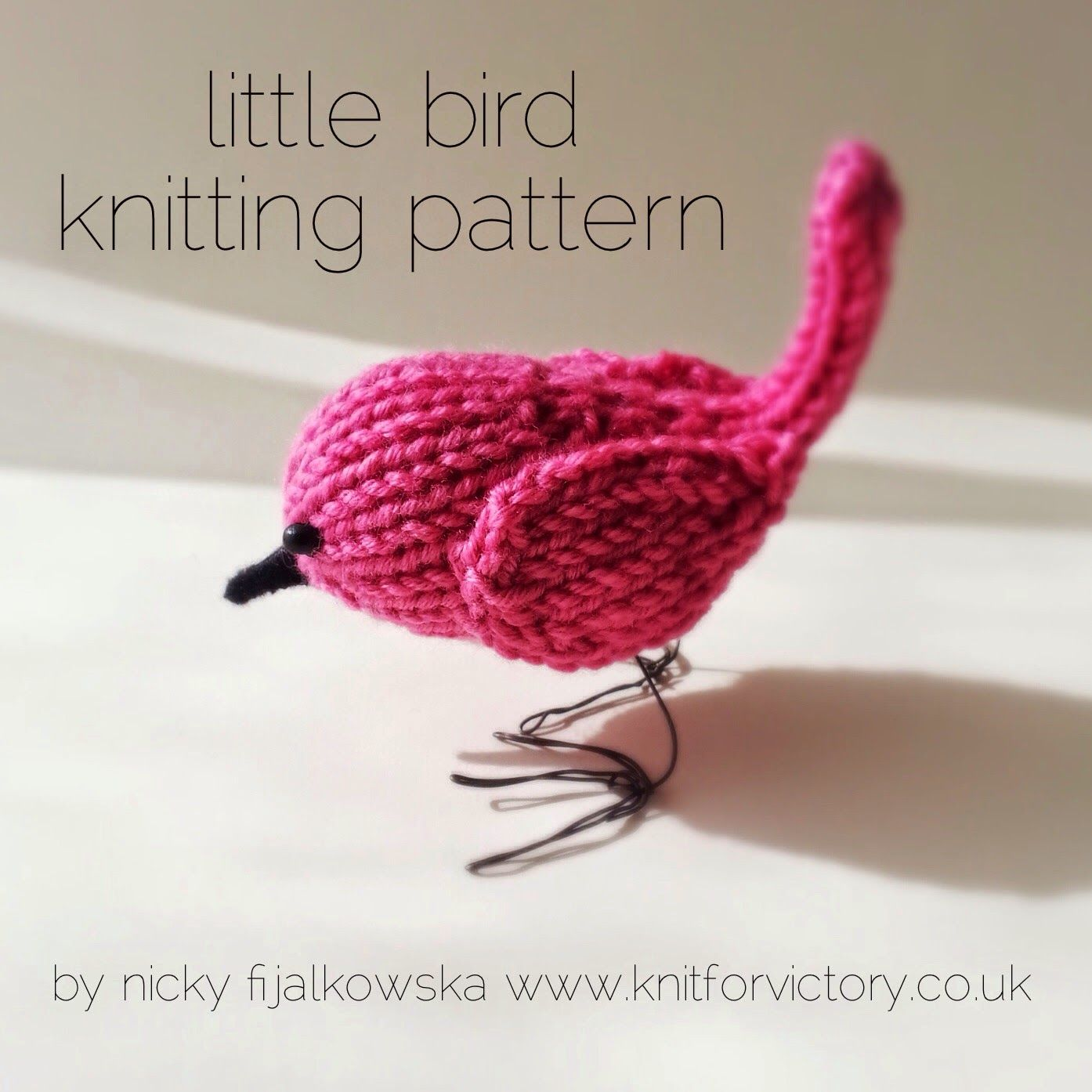 Knit for Victory: Cute little bird knitting pattern. In my Etsy shop ...