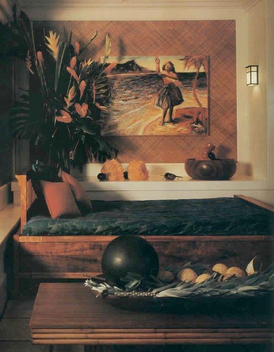 Hawaiian Style Bedroom: Pune'e Living Hawaiian Style.