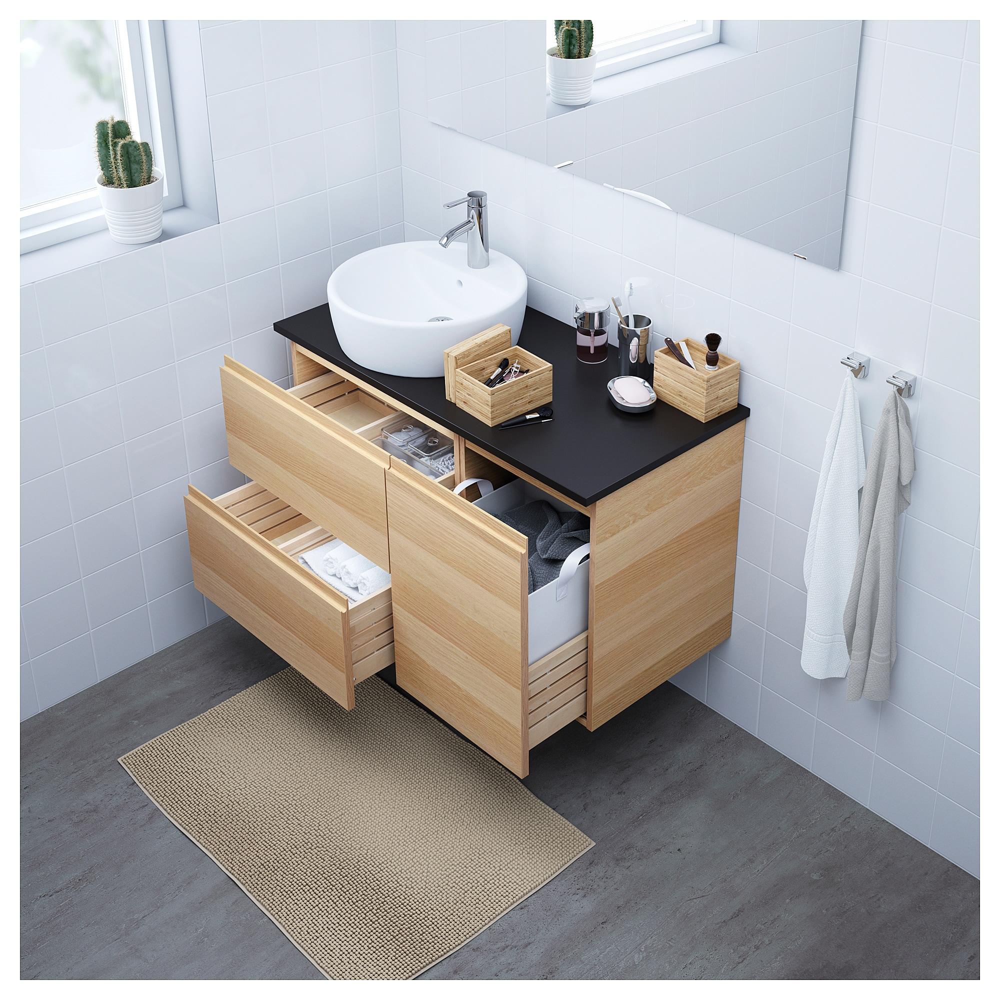 Godmorgon Tolken Tornviken Waschbschr Waschb 45 Eicheneff Wlas Badezimmer Dekor Badezimmer Braun Ikea Godmorgon