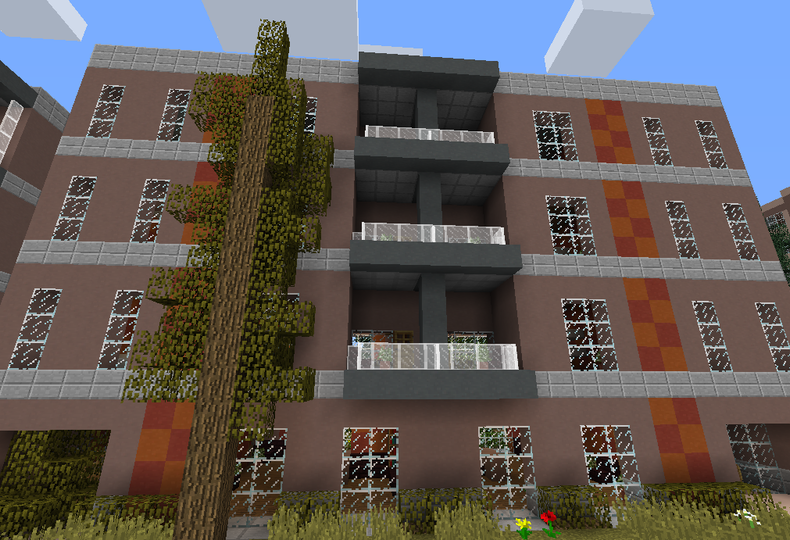 modern urban apartment building 1 - grabcraft - your number one