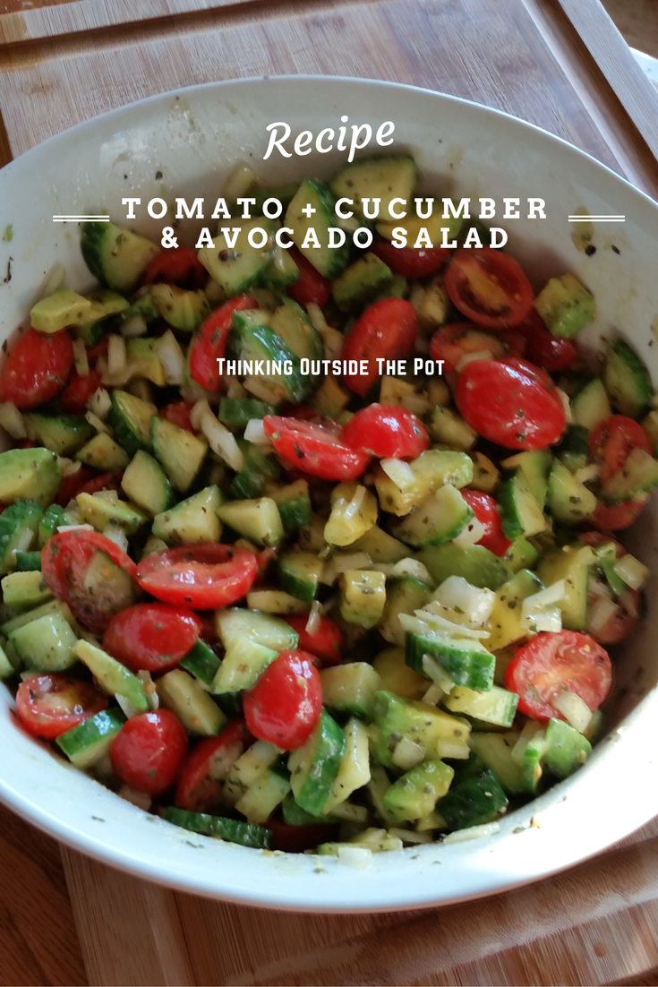 Tomato + Cucumber & Avocado Salad