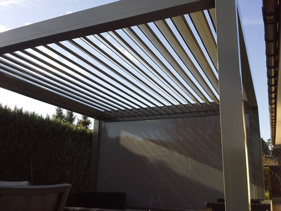Lamellendak v860 levanto vrijstaande overkapping met een dak van